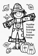 Number Fall Addition Math Coloring Printables Worksheets Grade Numbers Preschool Printable 1st Sheets Autumn Worksheet Grades Driverlayer Engine Halloween Activities sketch template
