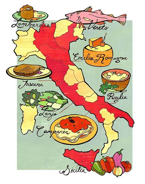 cuisine by region italy the different regions and the food that