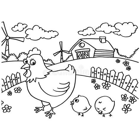 gambar mewarnai ayam dan anaknya