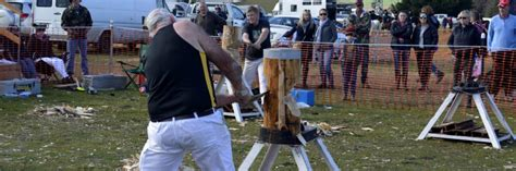 wood chopping campbell town show