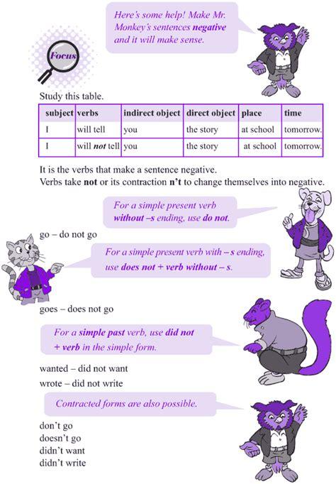 grade 4 grammar lesson 17 negation 2 grade 4 grammar