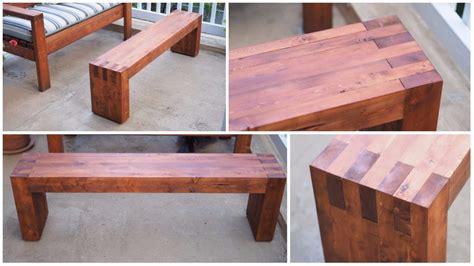 diy modern outdoor bench   xs diy montreal
