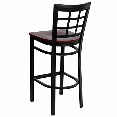Bar Stool Metal Seat Restaurant Wood Furniture