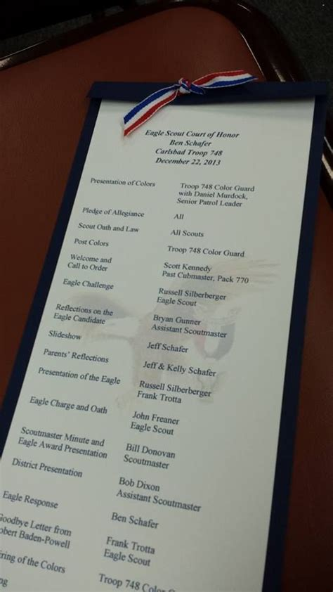 eagle court of honor program description of what it means to be an eagle scout eagle court of honor and beyond