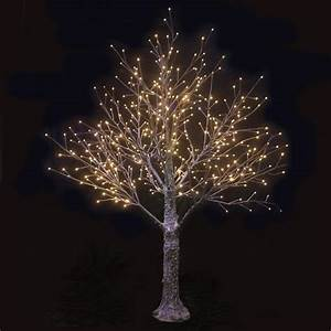 brown snowy twig tree white led lights indoor outdoor With outdoor light up twig tree