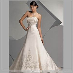 New embroidered bridal wedding dress 5320 bainuo for Embroidered wedding dress
