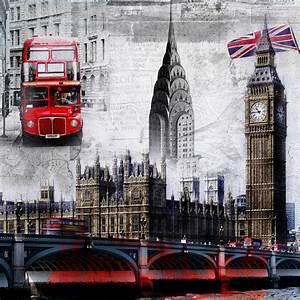 Free Shipping European retro large mural wallpaper London ...