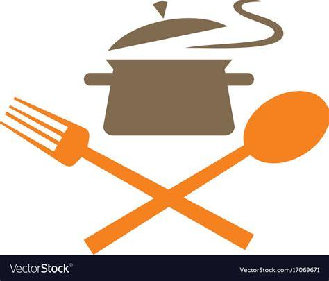 cook food kitchen logo royalty  vector image