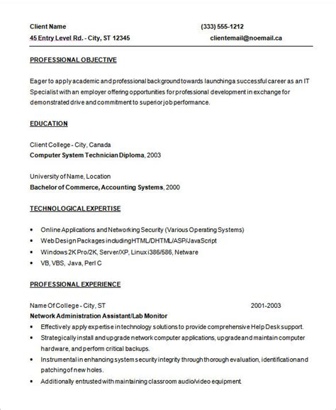 Entry Level Software Programmer Resume by Programmer Resume Template 8 Free Sles Exles Format Free Premium Templates