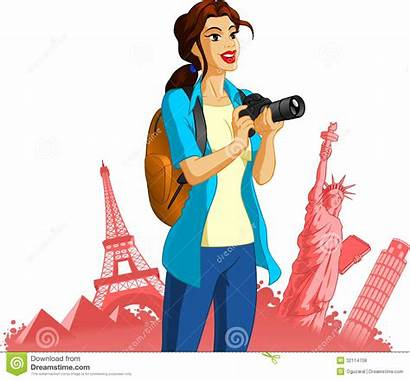 Photographer Clipart Tourist Travel Sightseeing Female Famous