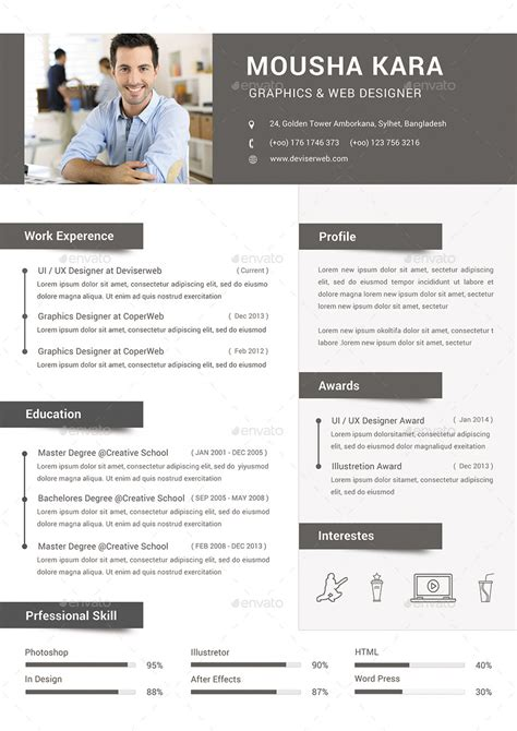simple creative cv resume cover letter by