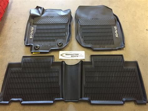 floor mats rav4 2017 2013 2017 rav4 all weather rubber floor linner mats pt908 42165 20 oem accessory ebay