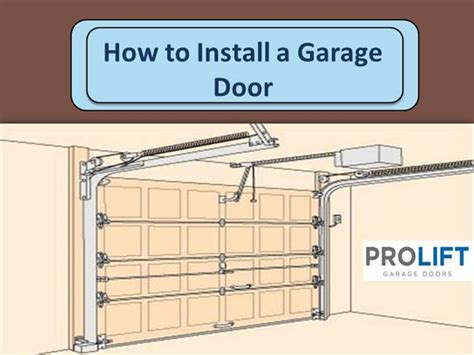 how to install garage door how to install a garage door authorstream