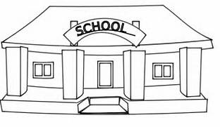 Download School Building Black And White Clipart  Construction House Clip Art Black And White