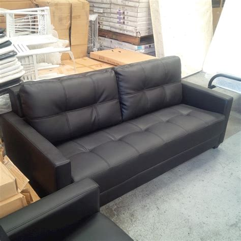 Cheap 3 2 Seater Sofa Deals by Priceworth 3 Seater Pu Leather Sofa Black Comfortable