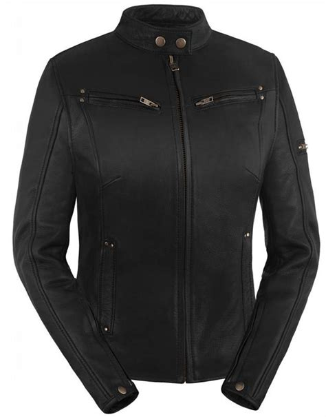vented motorcycle jacket true element womens sleek vented leather motorcycle jacket