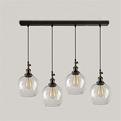 country style hanging light fixtures susuo lighting 4 lights retro country style clear glass