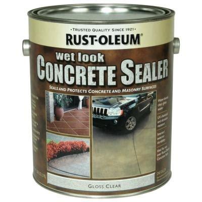 rust oleum concrete stain  gal wet  sealer case