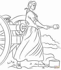 Molly Pitcher coloring page   Free Printable Coloring Pages