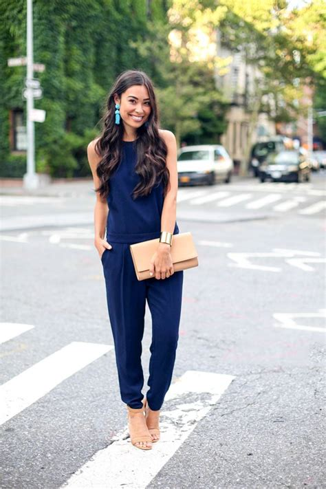 navy jumpsuit 18 cool and chic jumpsuits for summer pretty designs