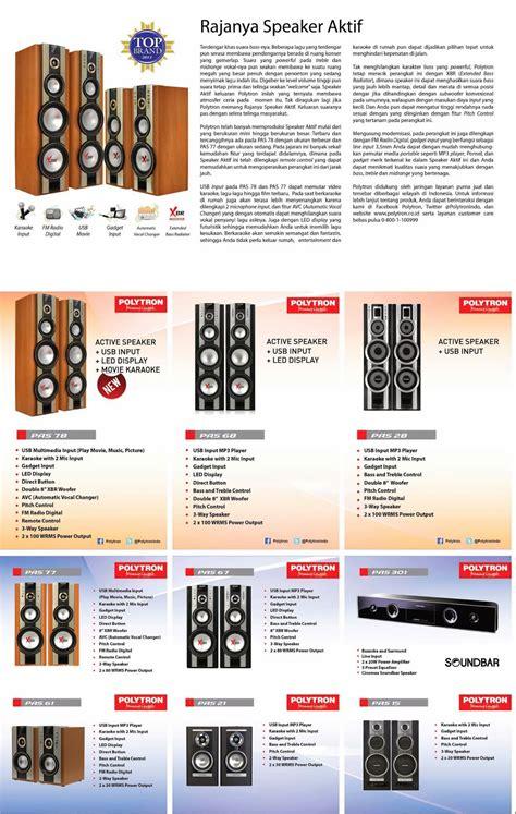 polytron speaker radio indah elektronik
