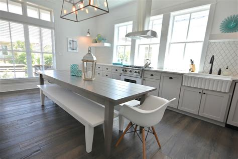 beach kitchen table and chairs gray dining table cottage kitchen lollygag beach house