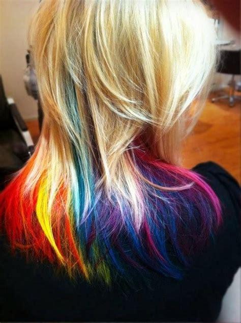 Rainbow Tips Fantabulous Hair Pinterest