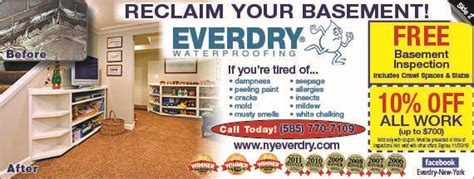 everdry basement waterproofing  waterproof basements