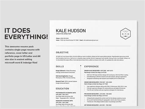 Clean Resume Template by Clean Resume Cv Hudson Work Fashion Resume Resume