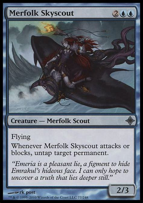 Mtg Merfolk Deck Tapped Out by Merfolk Skyscout Mtg Card