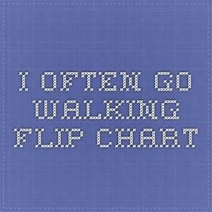 I Often Go Walking Flip Chart