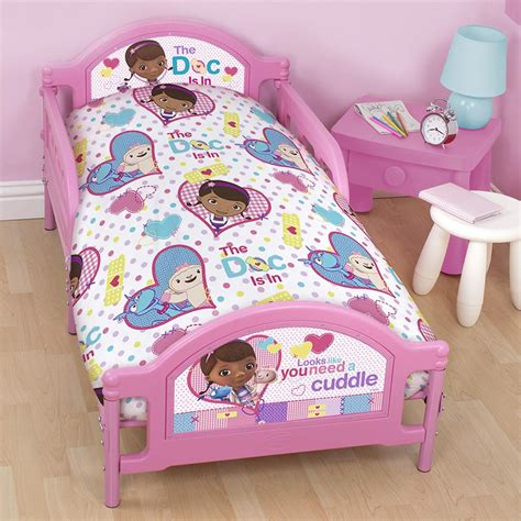 doc mcstuffins toddler bed set doc mcstuffins patch junior cot bed duvet cover bedding