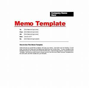 business memo templates 40 memo format samples in word With memo templat