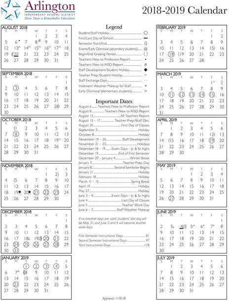 aisd calendar bowie high school