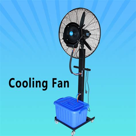 and cold fan strong wind portable water fan that blow cold air on
