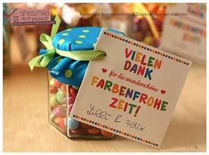 Geschenk Verpacken Schleife : abschiedsgeschenk danke f r die farbenfrohe zeit geschenkideen geschenke zum abschied ~ Orissabook.com Haus und Dekorationen