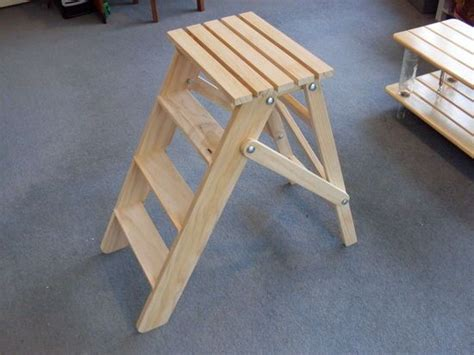 folding wooden stepladder cool woodworking projects diy