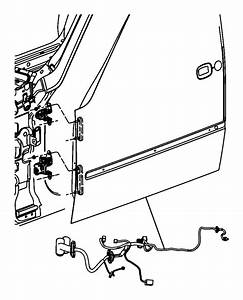 2008 Dodge Nitro Wiring  Rear Door  Right Or Left    4