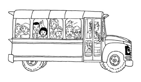printable school bus coloring pages  kids