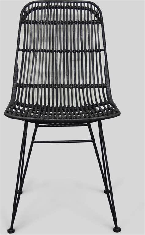 stoel staal zwart bol moods lilly stoel rotan zwart zwart