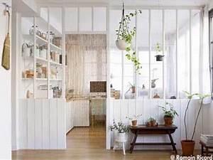 verriere interieure 26 photos pour separer sans cloisonner With attractive meuble pour separer cuisine salon 12 comment amenager et decorer la salle de sejour