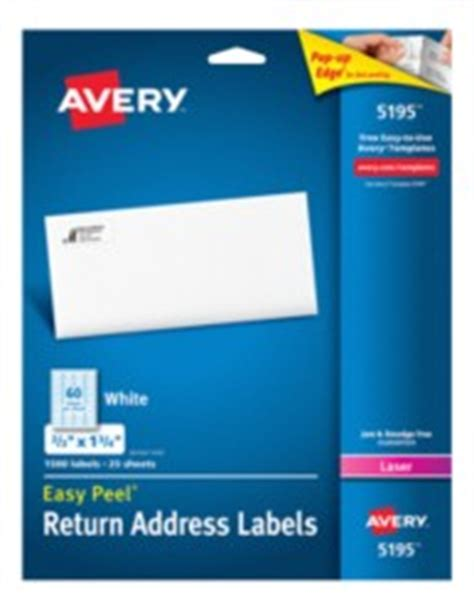 avery templates 5195 avery easy peel return address labels for laser printers