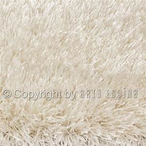 grand tapis shaggy blanc par arte espina With grand tapis shaggy