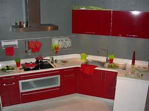 objet deco cuisine rouge amazing cafetire maille With objet deco rouge pour cuisine