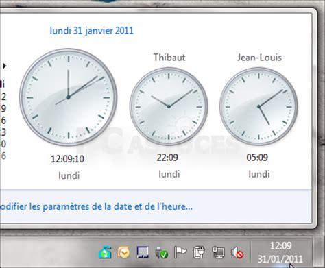 horloge de bureau windows comment afficher horloge sur bureau vista