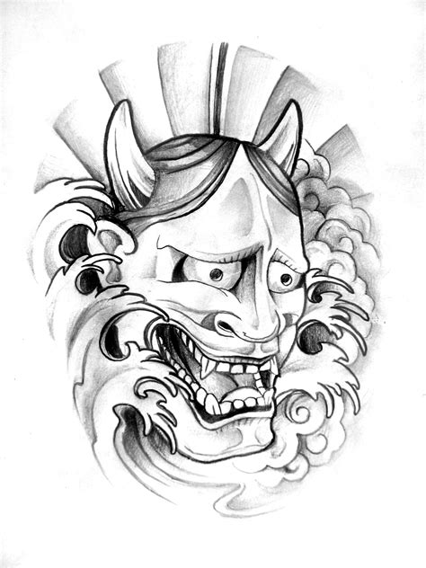 Samurai Maske Tattoo Vorlagen Tattoo Art