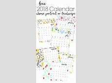 Free Printable 2018 Calendar Landscape – 2018 Calendar