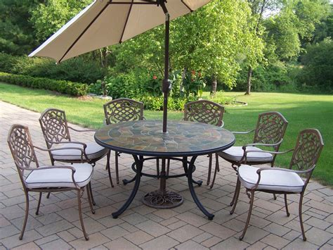 oakland living patio dining set w 54 quot topped table