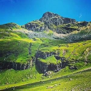 Green, Mountains, Hiking, Nature, Summer, Waterfall, Grass