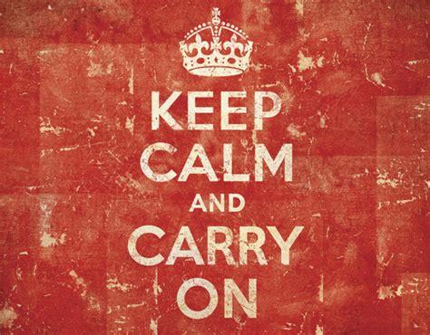 Historia de la publicidad poster Keep calm and carry on
